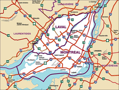 Montreal Map - Voir Montreal